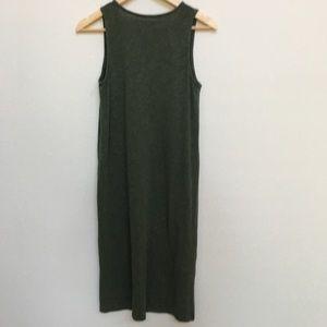 Madewell S V-Neck Jersey Tank Dress Heather Green